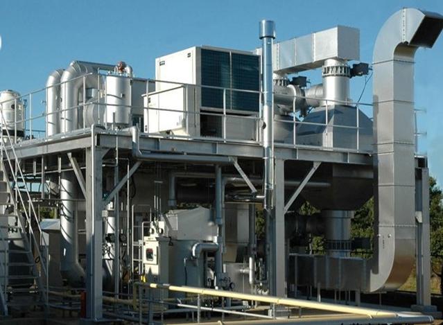 噴涂廢氣處理(干式過濾+活性炭吸附+有機廢氣催化)